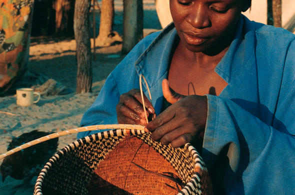 Traditional basket weaving