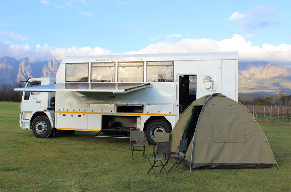 Adventure truck used on a Botswana Overland Tour.