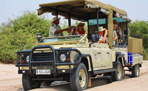A view of guests on a mobile safari.