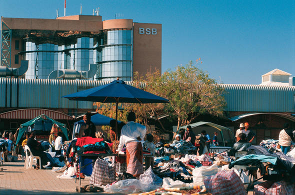 An informal market in Francistown.. Ian Michler