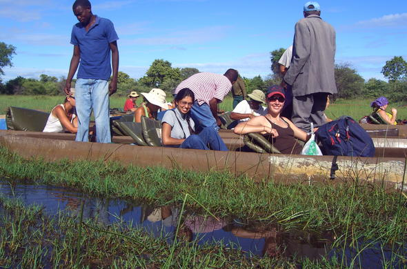 Mokoro excursion during Botswana overland trip.