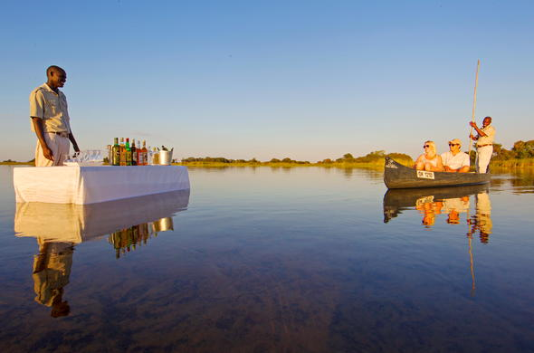 Discover the Okavango Delta channels on mokoro canoe excursion.