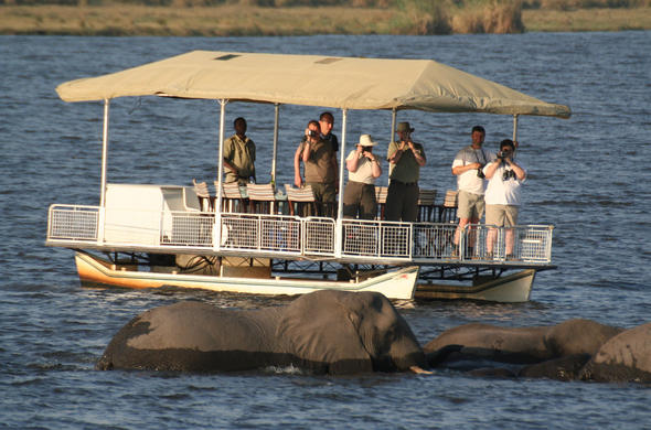 Chobe's safari speciality is safari by boat. DDS