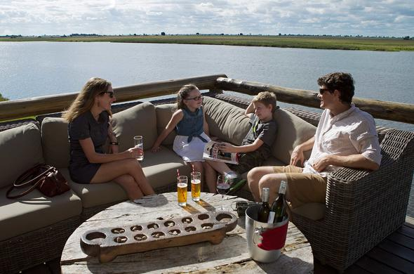 Lunch on the Sky-walk at Chobe Game Lodge