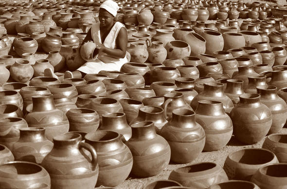 Clay pot maker. Ian Michler