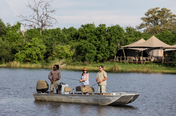 Seasonal fishing in Botswana.