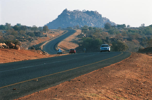 The Trans-Kalahari Highway. Ian Michler