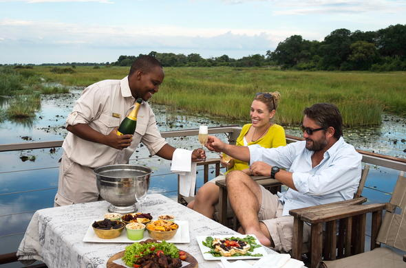 Luxury Botswana  safari at Kings Pool Camp.