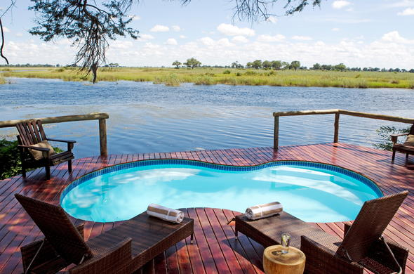 Stunning views from your private game viewing deck with pool.