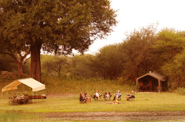 Botswana mobile tented camp accommodation.