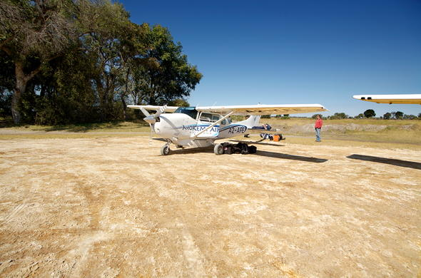 Land directly in the African bush with a light aircraft flight.