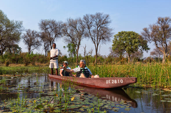 Glide through the Delta waterways in a mokoro.