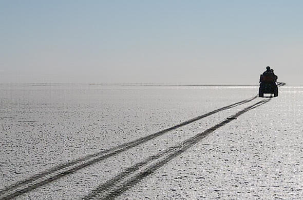 Across the Makgadikgadi from Jacks Camp