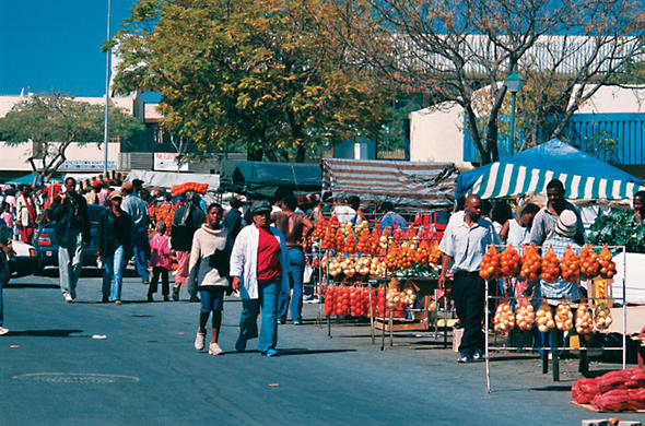 Main street market in Francistown. Ian Michler