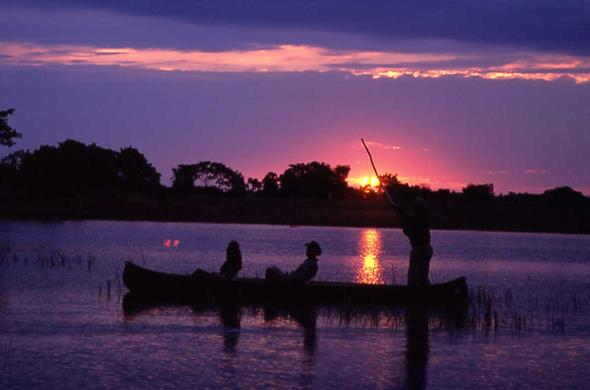 Sunset mokoro excursion in the Okavango. Jeremy Jowell