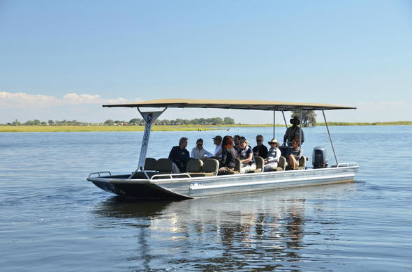 Boat trip on Chobe River.