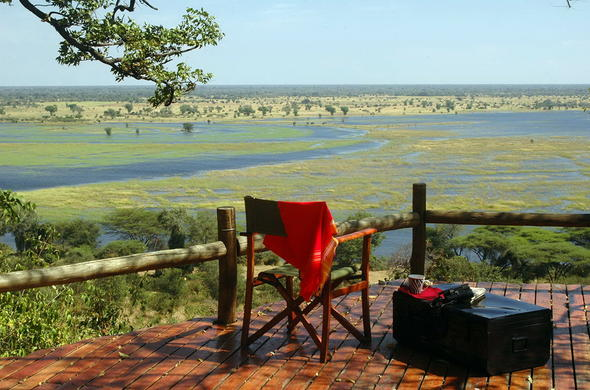 Striking views of Chobe River from the deck.