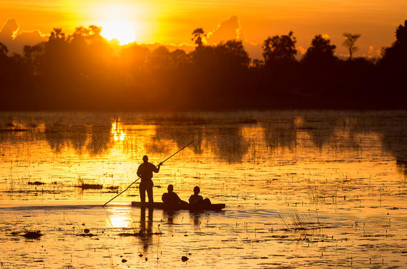 Sunset mokoro trip with Wilderness Safaris