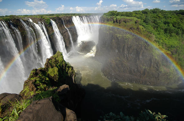 Visit the Victoria Falls in Livingstone.