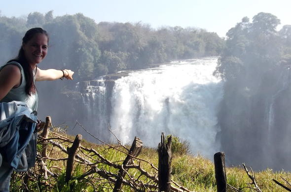 Victoria Falls waterfalls in Zimbabwe.